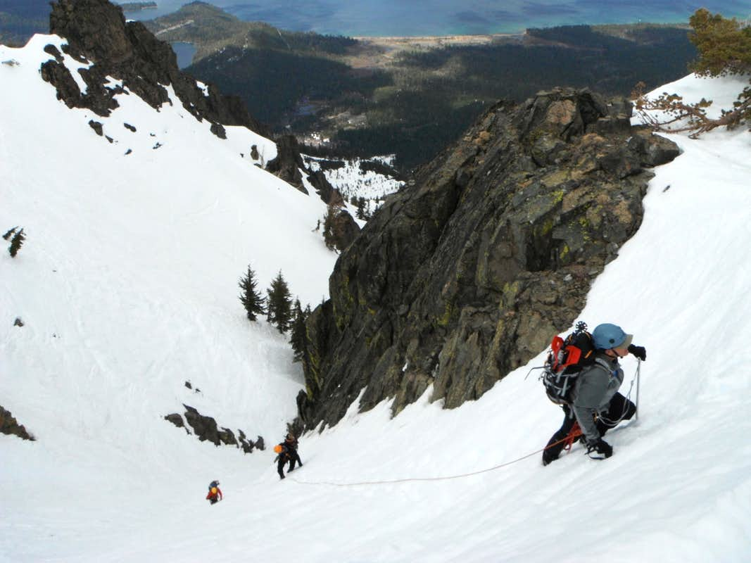 Cross Couloir Final Slope