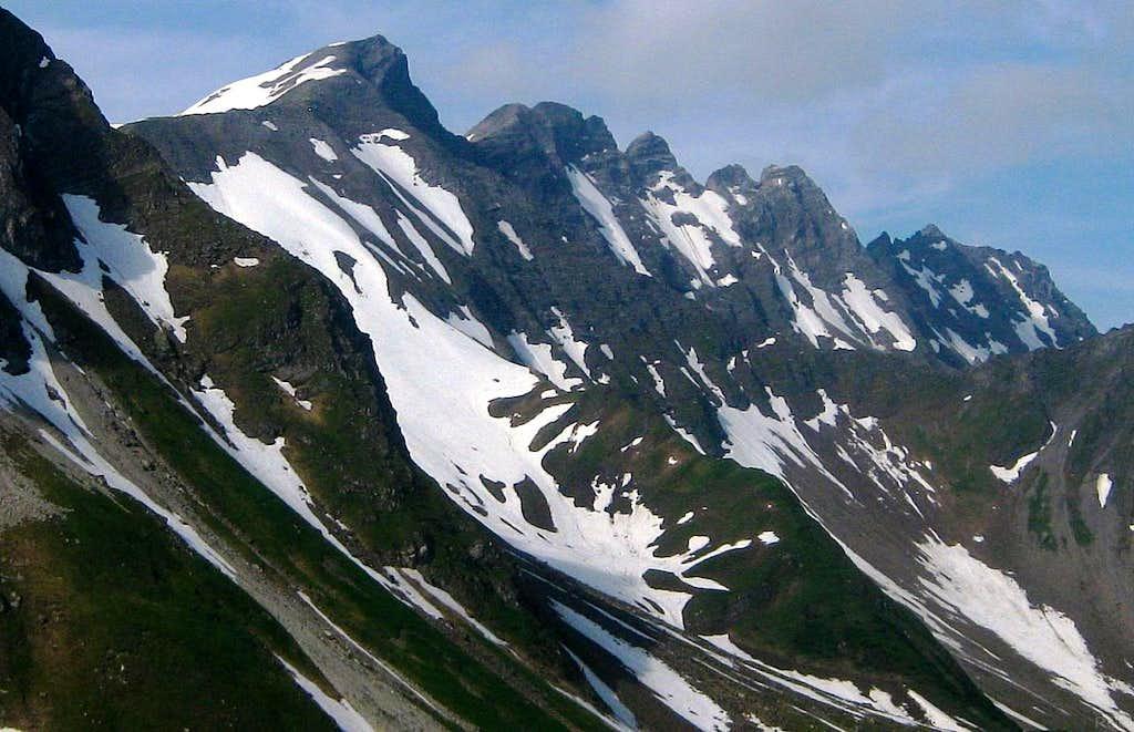 A closer view of the southern border of Liechtenstein