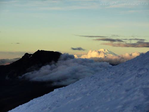 Sincholagua and Cayambe from Cotopaxi