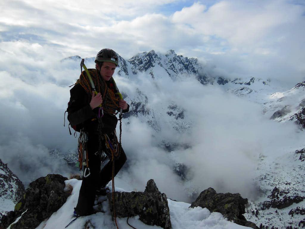 Summiting Galfy's Pillar