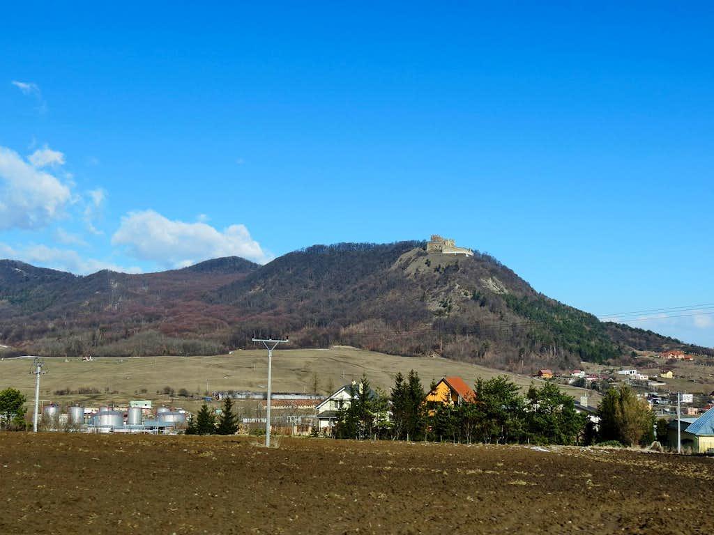 Kapusany Castle at hill - Straź