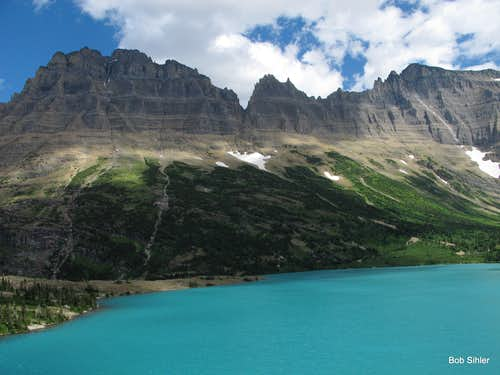 Mount Merritt, Lithoid Cusp and Ipasha Peak from Margaret Lake