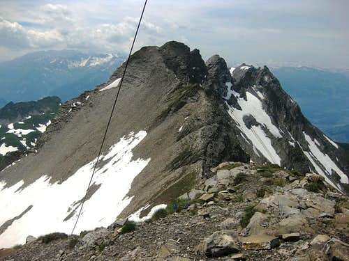 View over the west ridge from Schwarzhorn