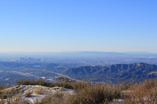 Hollywood Hills & LA from Verdugo Mountains