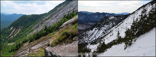 Basin Mountain East Face Summer/Winter Comparison 2