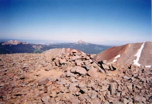 A view of Lone Cone Peak from...