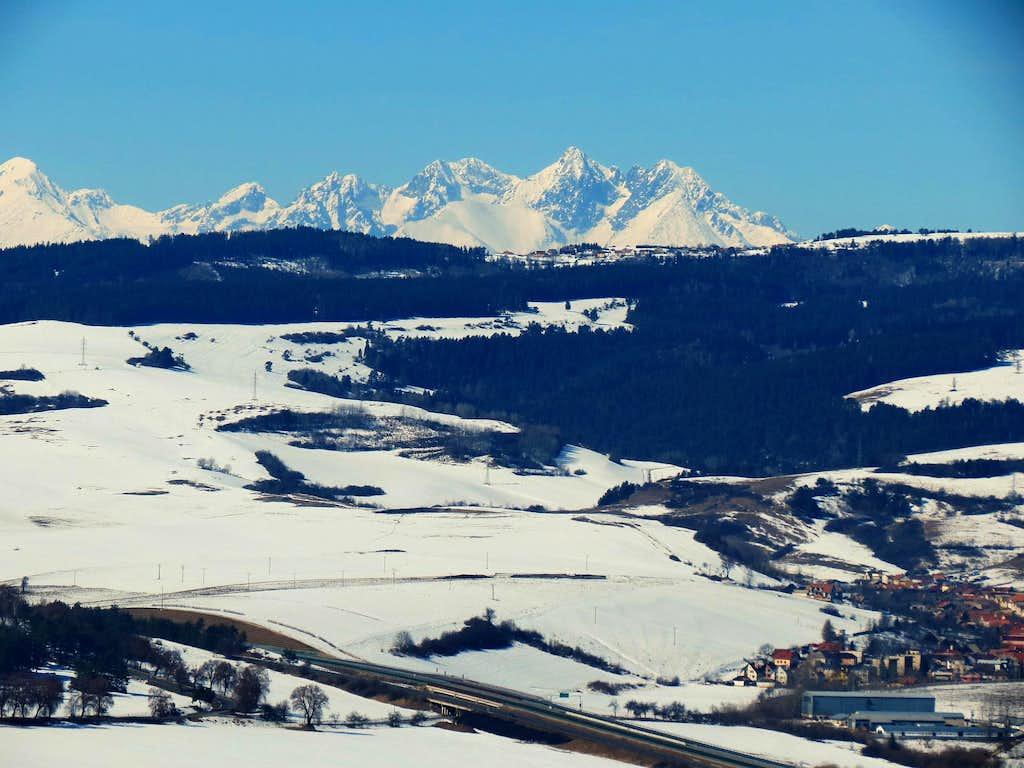 Motorway and Tatra Mountains
