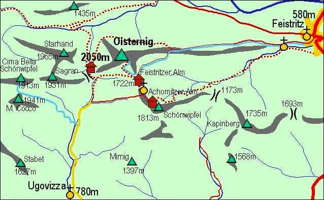 A self-made map of Ojstrnik...