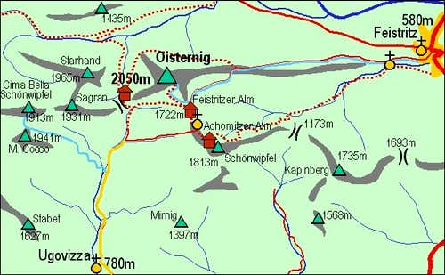 A self-made map of Ojstrnik...
