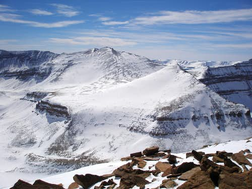 Kings Peak and West Gunsight Peak