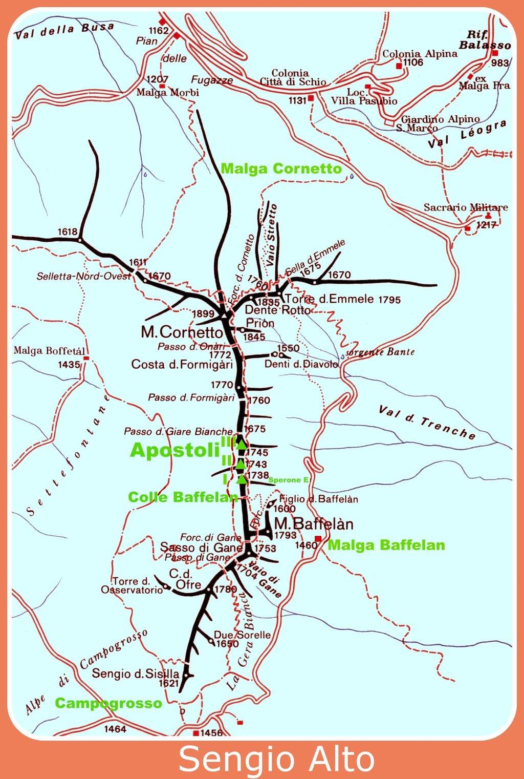 Sengio Alto map