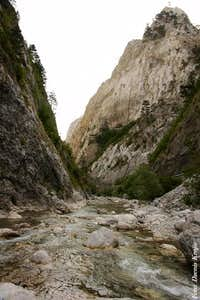 Sutjeska river canyon