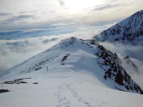 Osterva summit over the clouds