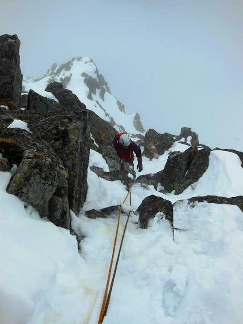 Climbing Galfy's route