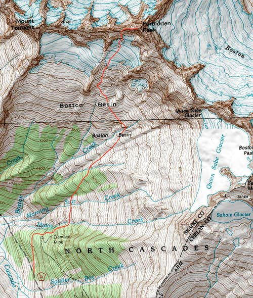 Forbidden Peak Topographic Map