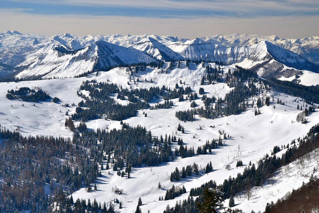 March winter in the Osterhorn mountains