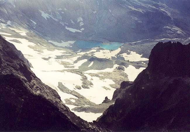 Ouzel Lake (5,700 ft) from...