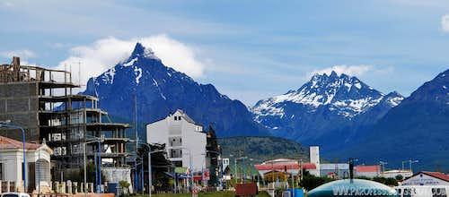 Mount Olivia and Cerro Cinco Hermanos