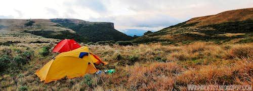 Camp at 1780m high
