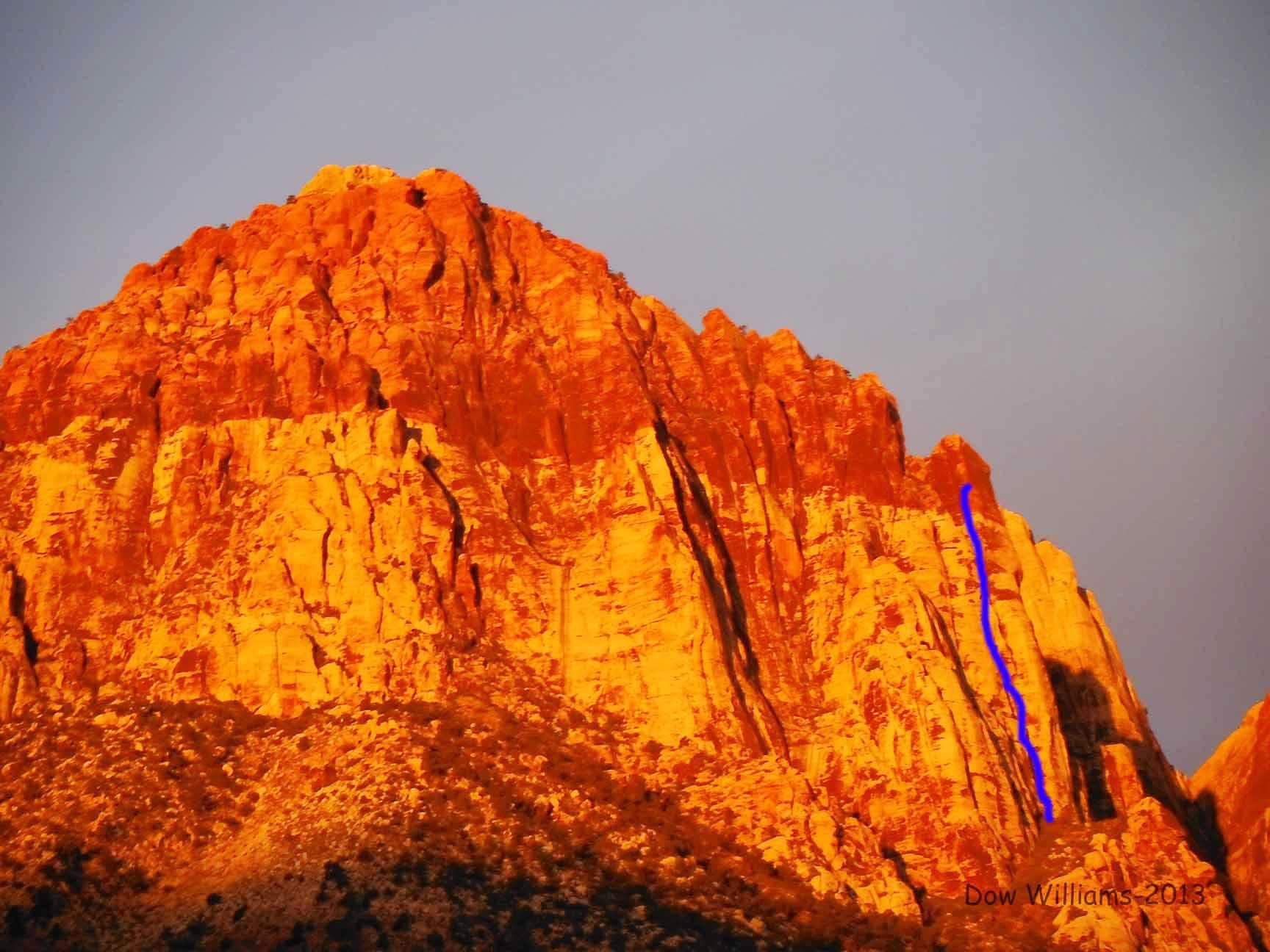 Clod Tower, 5.10c, 5 Pitches