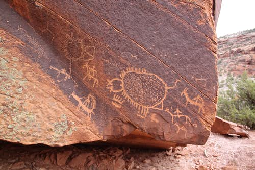 Detail of petroglyphs