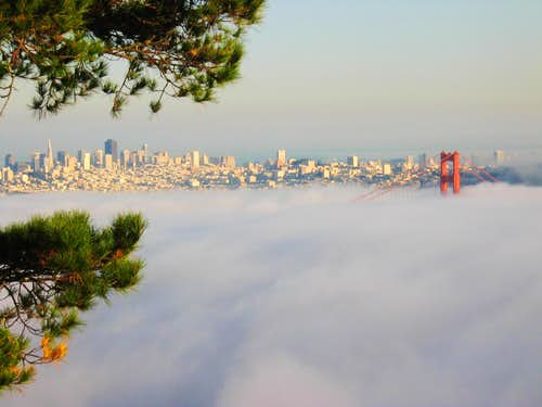 SF from Hawk Hill