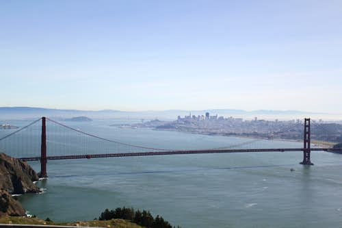 Panoramic SF Bay View on Clear Day