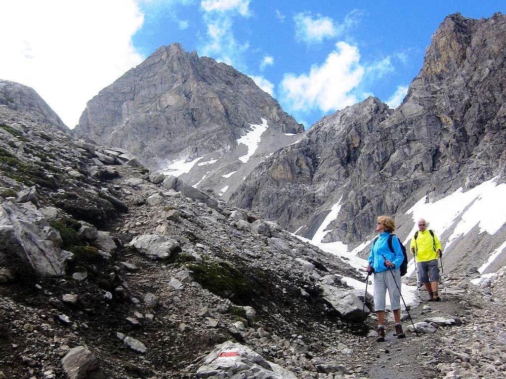 Descending Schesaplana - below the Totalp Hütte