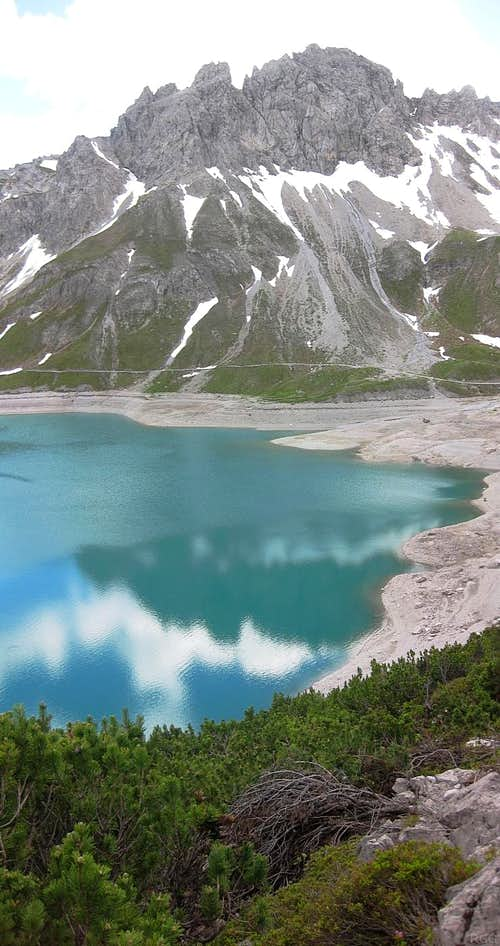 Kanzelköpfe from across the Lünersee