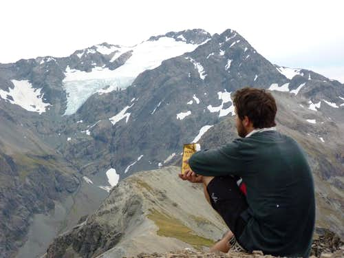 Snack time on Avalanche Pk summit