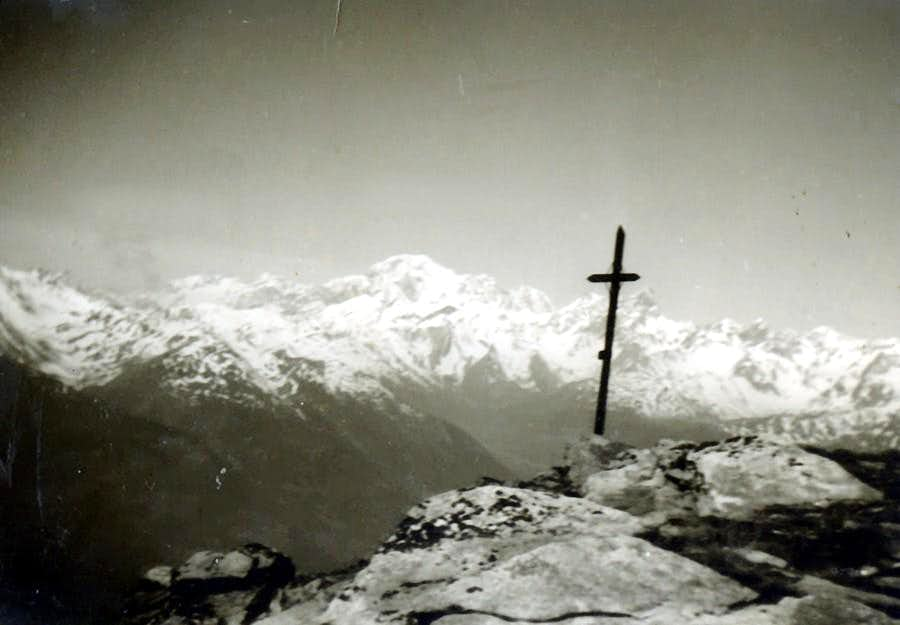 Becca di Viou Old Cross to Mont Blanc October 1966 hour 12.40, T 10°
