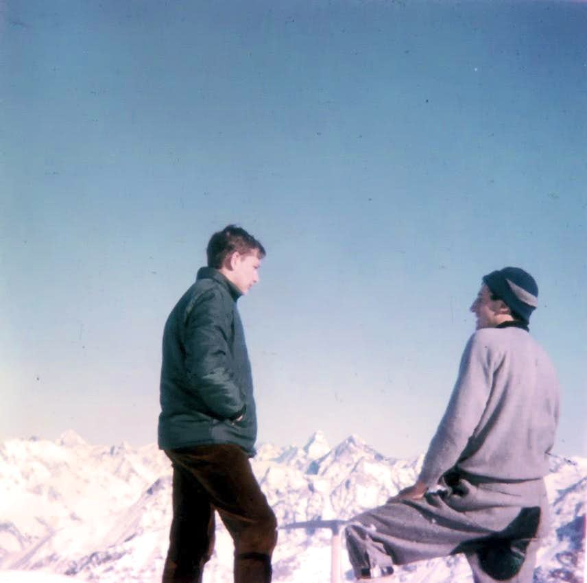 Becca di Viou Arriving on Summit First Winter, January 1968