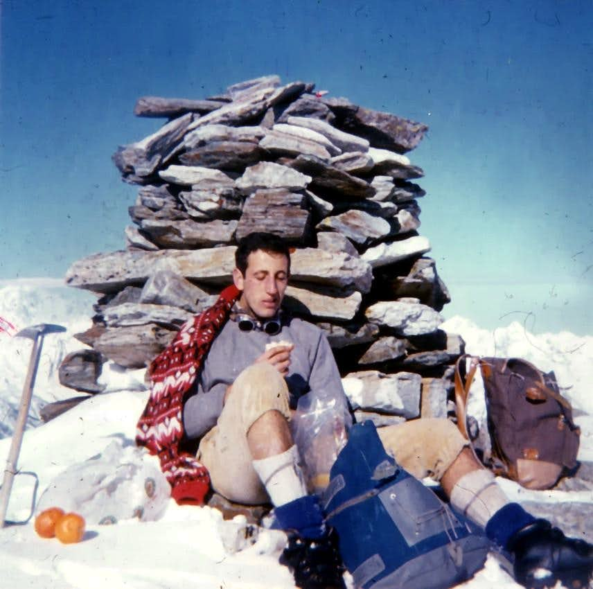 Becca di Viou Summit (2856m) in Second Winter, March 1968