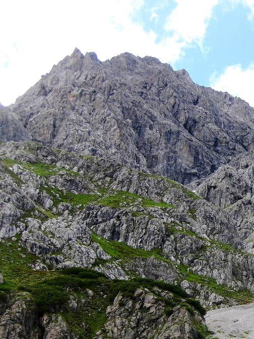 Seekopf, a subsidiary summit east of Schesaplana