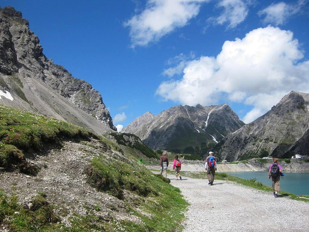On the banks of the Lünersee (1970m)