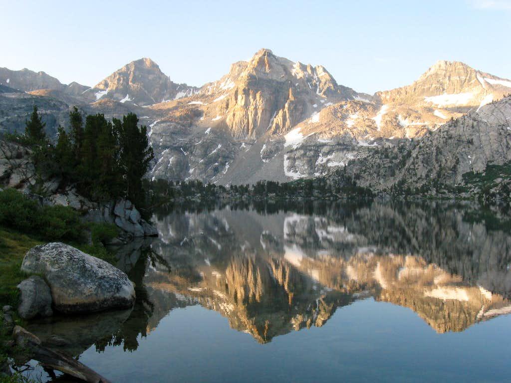 Rae Lakes, looking toward Glen Pass