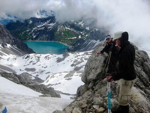 Hikers high on Schesaplana