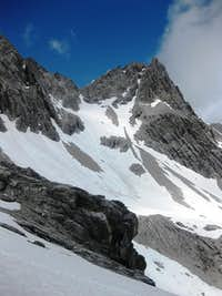 Zirmenkopf (2806m), a subsidiary summit on the northeast ridge of Schesaplana