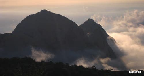Bridge Mountain at Dawn with Clearing Sea of Clouds