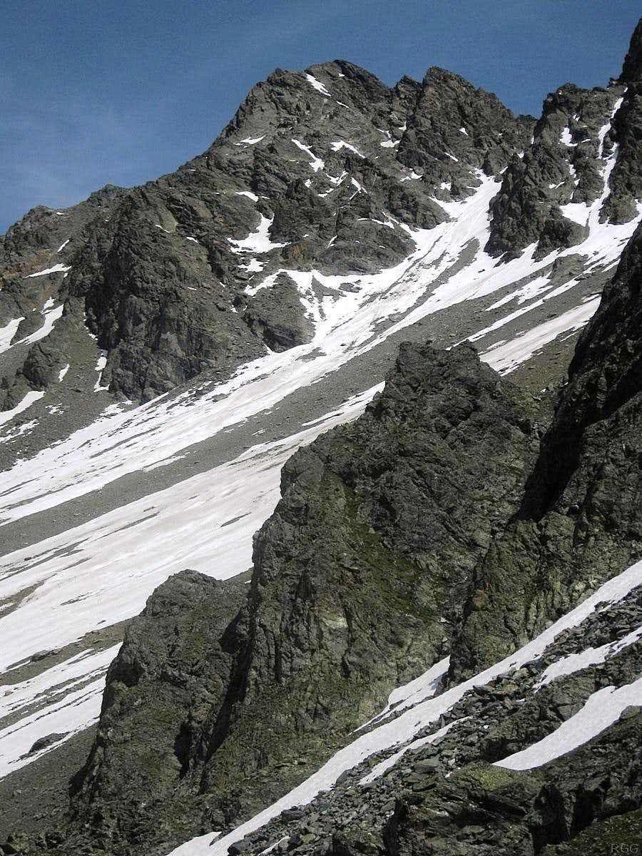 Hoher Kogel (3293m) from the west