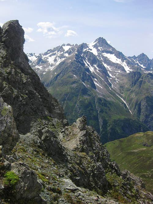 Rofelewand (3353m) from the Kapuzinerjoch