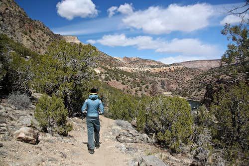 Hiking along Gunnison