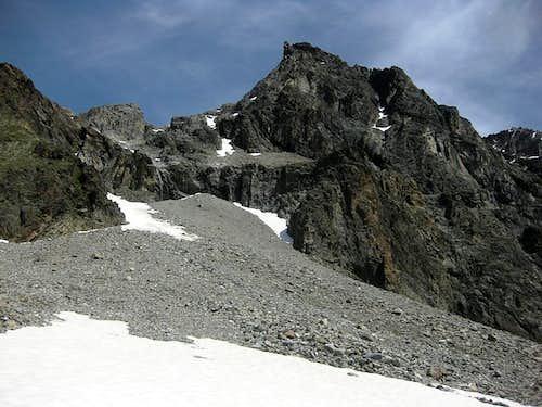 Scree slopes south of the Kapuzinerjoch