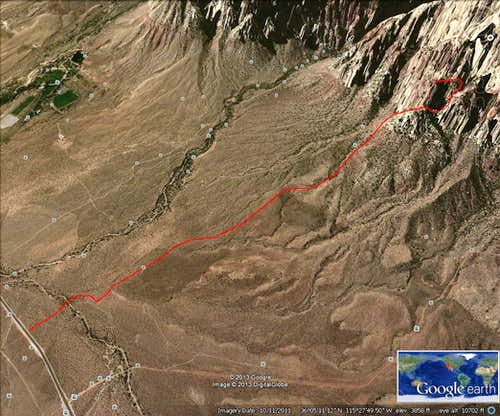 Google Earth route trace