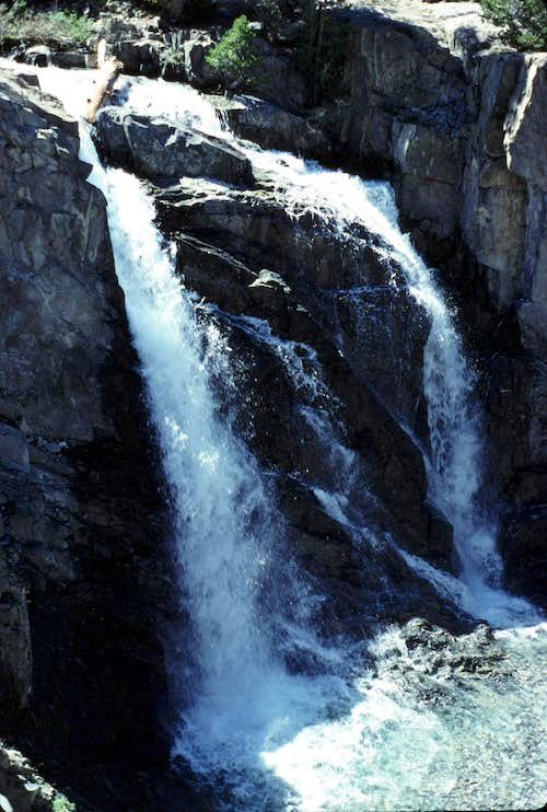 San Joaquin River Waterfall
