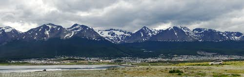 Ushuaia as seen from the airport