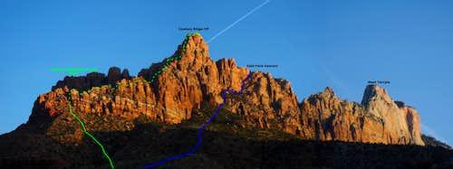 Cowboy Ridge Annotated view