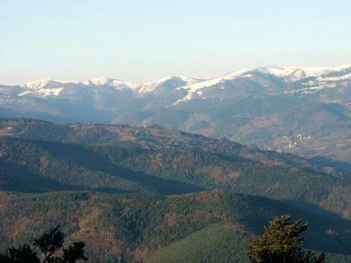 Main chain of the Vosges with...