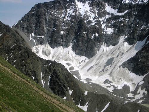 Old snow on the north face of the Puitkogel