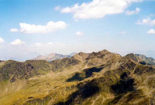 View from Scharnik summit...